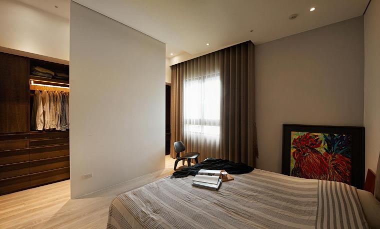 ideas dormitorio masculino amplio cama diseño grande
