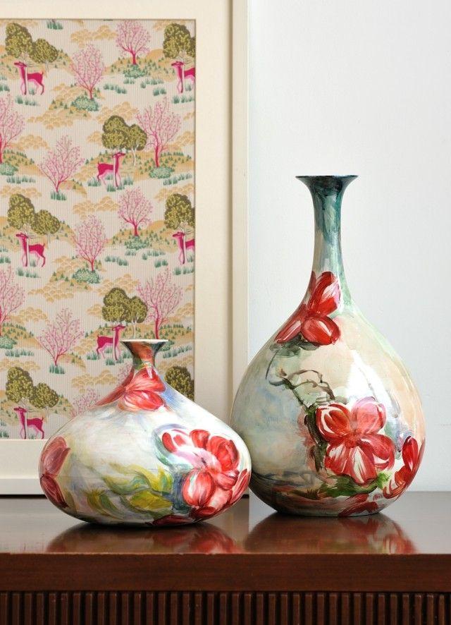 ideas estampas florales jarrones modernos interesantes