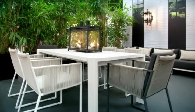 ideas farol mesa jardin bonitas blanco negro modernos