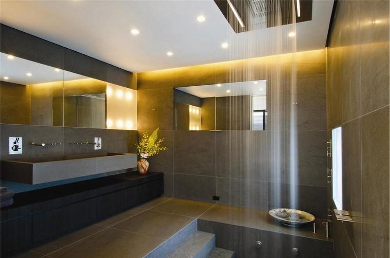 ideas innovadoras ideas baño moderno ducha techo