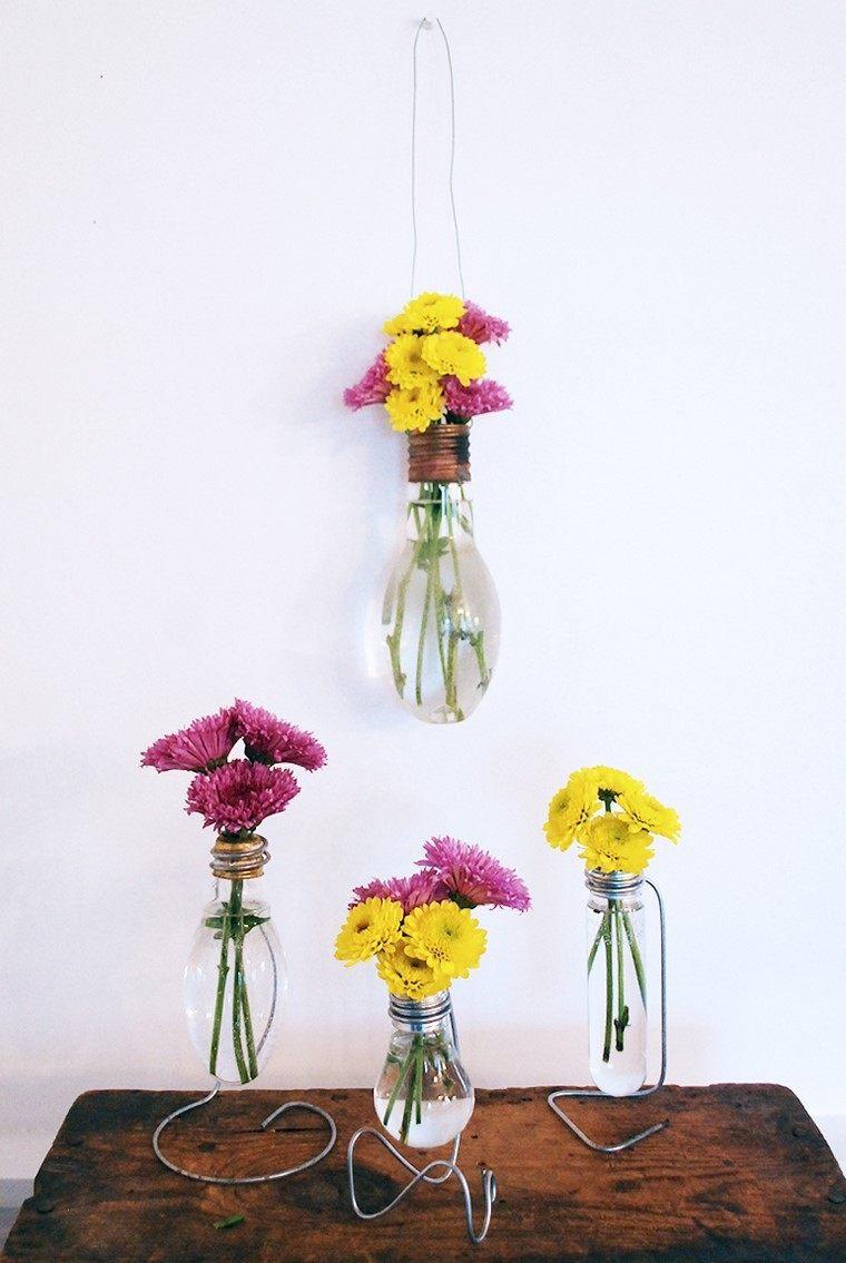 ideas jarrones vasos botellas cristal bonitas