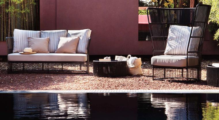 ideas modernas jardin muebles diseño original