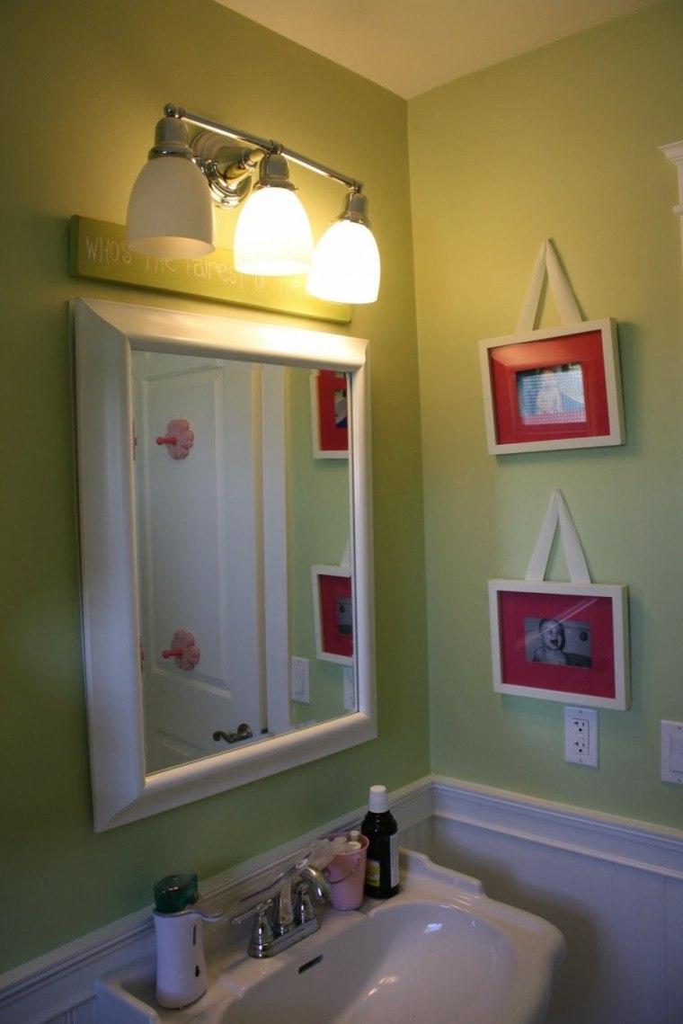 ideas organizado baño calido lampara