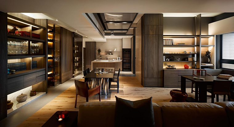 La naturaleza inspira el dise o de estos hogares asiaticos for Muebles de oficina lujosos