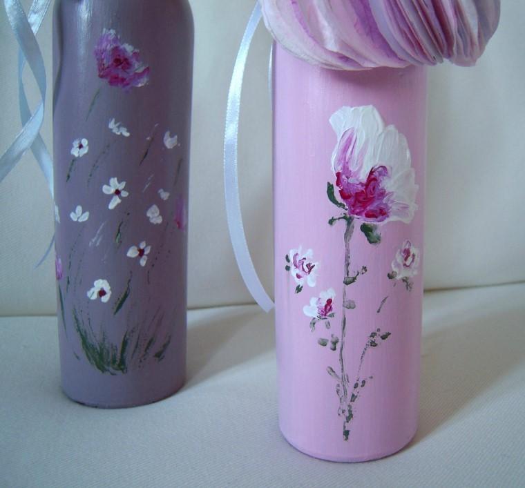 ideas originales poner ramos flores bricolage rosa