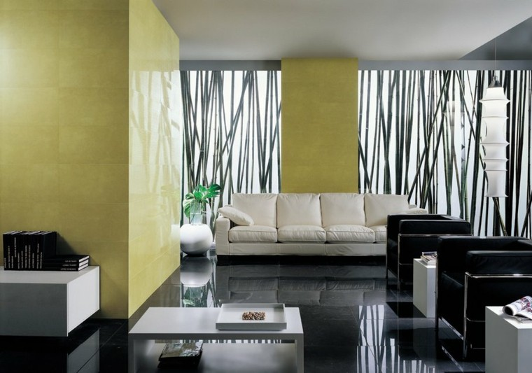 ideas para decorar salones cojines minimalista cortinas