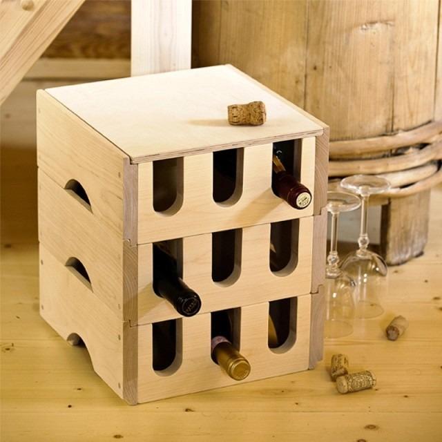 ideas para muebles vino soporte cajas vinera
