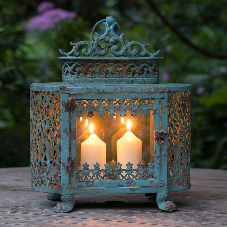 iluminacion jardines antiguo metal velas