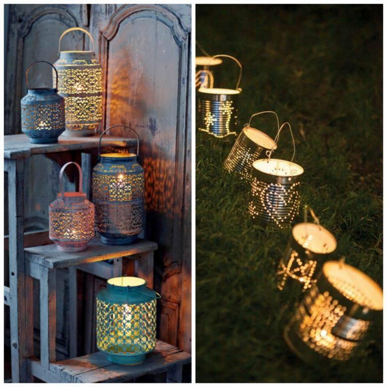 iluminacion jardines metalicas diy ideas