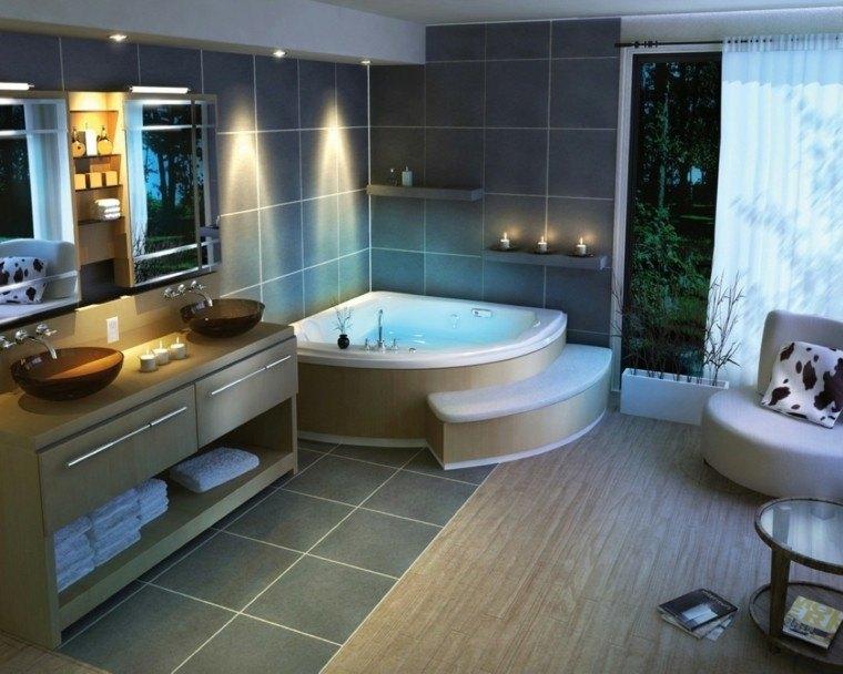 iluminación led baño moderno lavabo decoracion