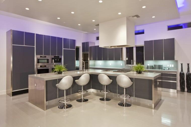 Iluminaci n led 75 ideas incre bles para el hogar - Iluminacion para cocinas modernas ...