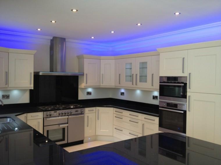 Iluminaci n led 75 ideas incre bles para el hogar - Luces para muebles de cocina ...