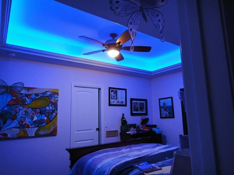 iluminación led ventilador mariposa diseño tradicional