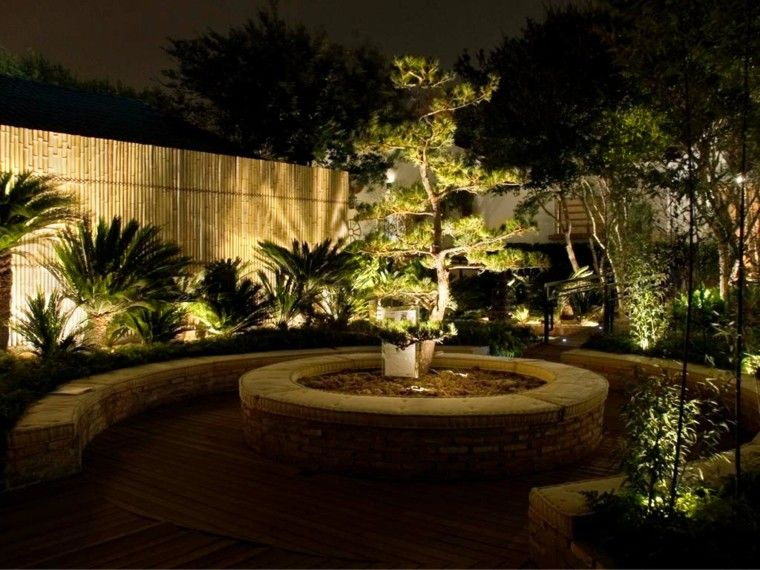 iluminacion sutil romantica jardin bonsai ideas