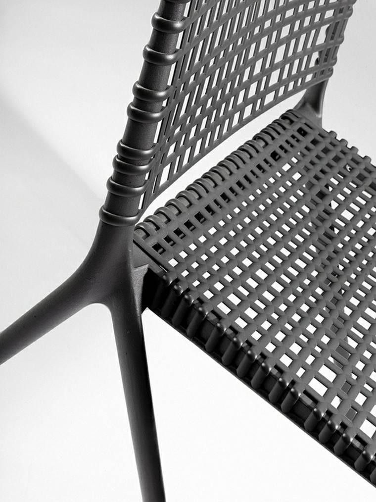 imagen cercana material resistente silla moderno diseño