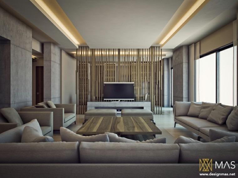 inspiracion salon moderno amplio muebles gris diseño ideas