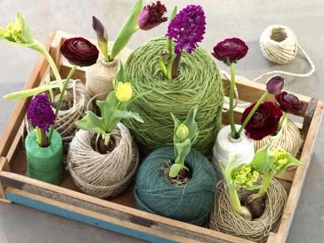 interesante idea mesa flores temporada moderna primavera