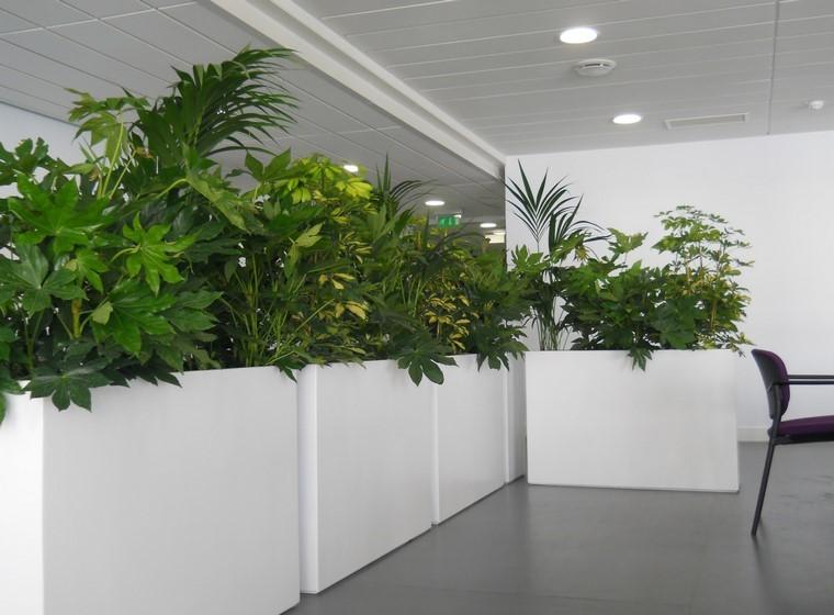 Jardineras inmensamente elegantes y funcionales for Vasi grandi per interni