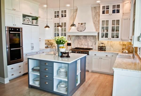 cocinas con isla cuadrada - Cocinas Cuadradas