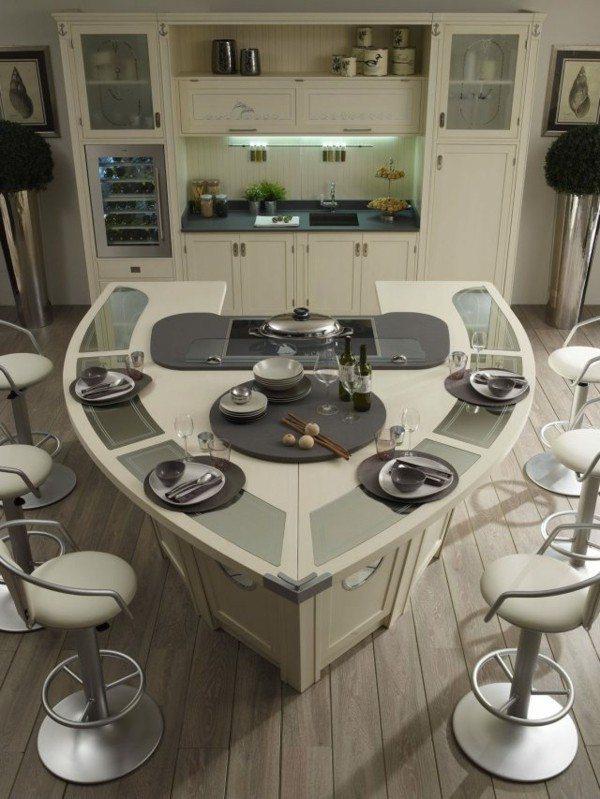 Cocinas con isla multifuncional para todos los estilos for Cocinas modernas con isla central y desayunador