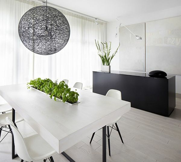 isla negra mesa blanca plantas