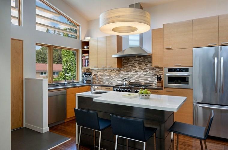 isla silla funcional mesa moderna cocina