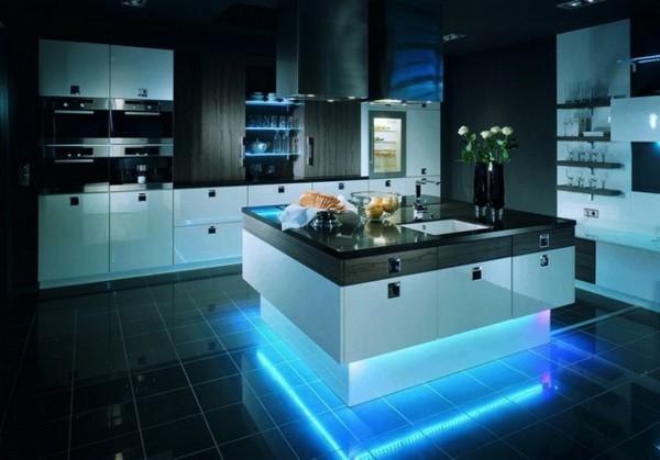 cocinas con isla cuadrada luz