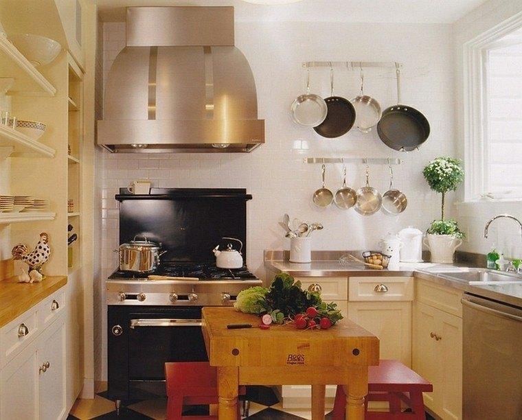 islas para cocinas madera banquetas plantas vegetales