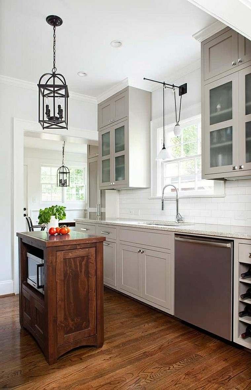 islas para cocinas madera espacio decoracion estantes