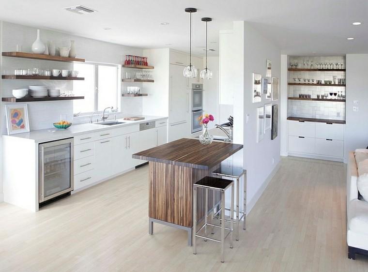 islas para cocinas madera plantas diseño muebles