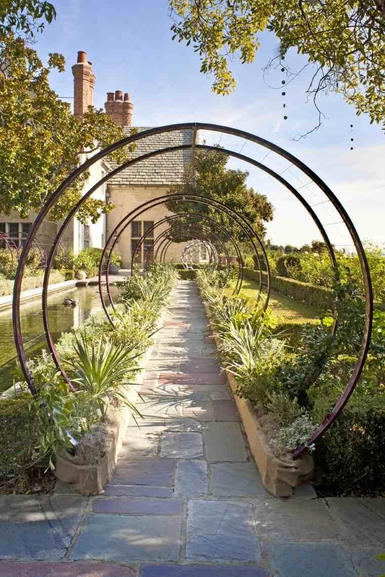 jardin camino idea rejas tunel interesante plantas