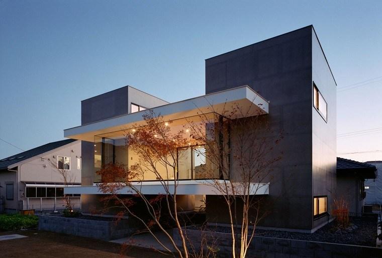 jardin delantero diseño moderno minimalista