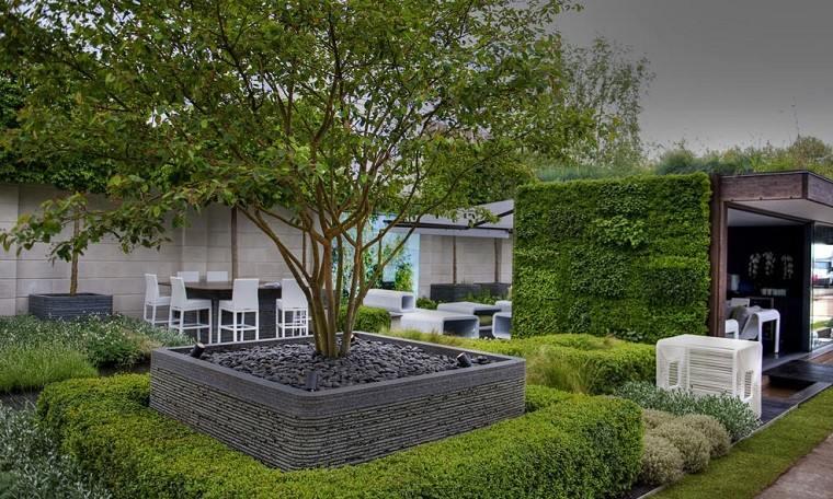 jardin diseno ideas originales modernas bonito verde plantas arbol