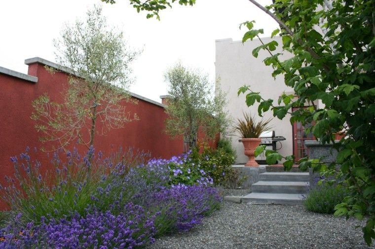 jardin estilo mediterraneo diseno moderno ideas