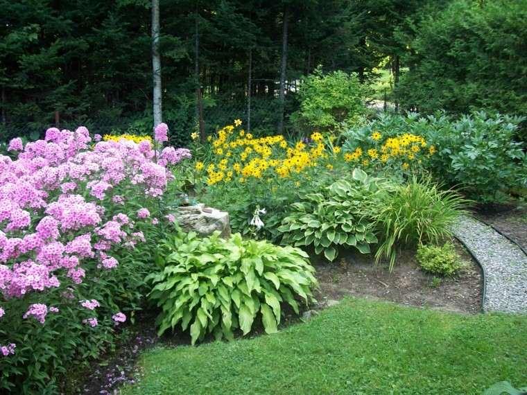 jardin girasoles ideas flores bonitas camino