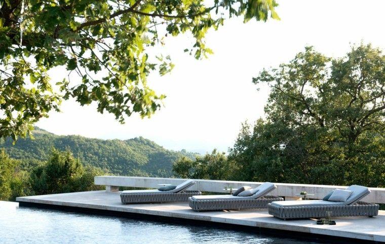 jardin hierba casa piscina arboles