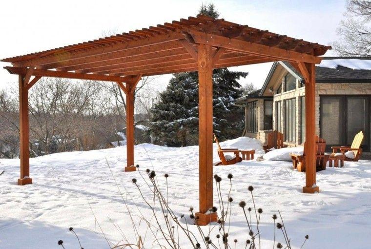 jardin invierno pergola madera grande