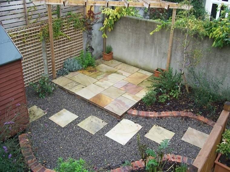 jardin moderno diseño zen baldosas