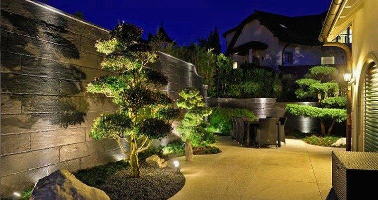 jardin diseño oriental arboles