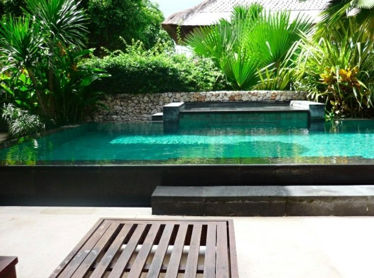 jardin pequeño piscina grande moderna