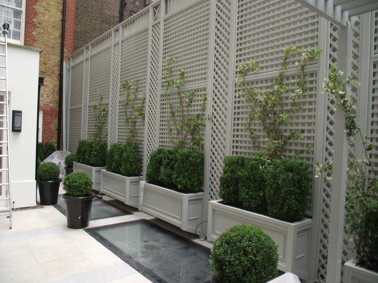 Estilo en el jard n con enrejados para plantas trepadoras - Verjas para jardin ...