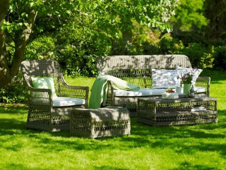 jardin precioso muebles comodos ideas romanticas moderno