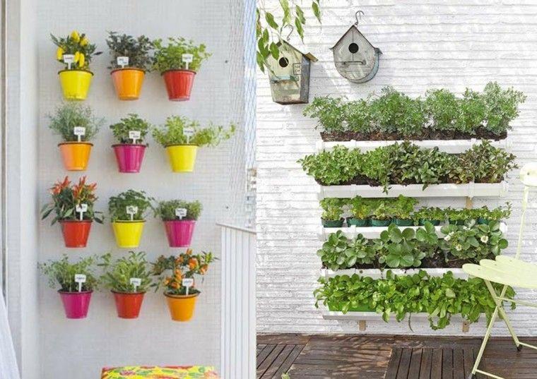 jardin vertical macetas plastico pared