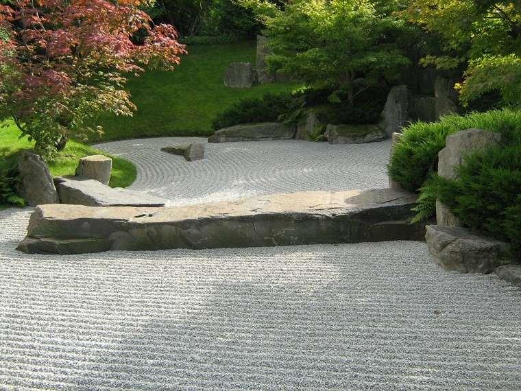 jardin zen guijarros piedras