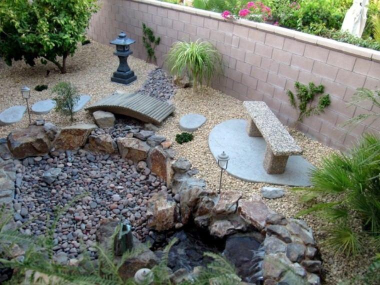 jardin zen patio casa piedrecitas