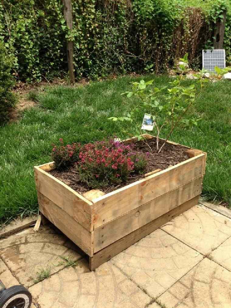 jardinera flores terreno patio contenedor plantas