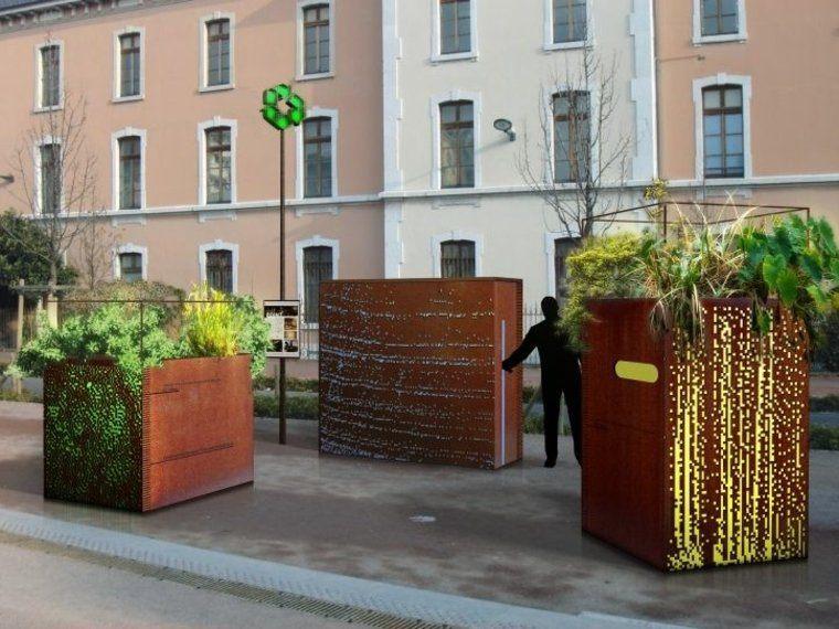 jardineras calle corten moderno publico