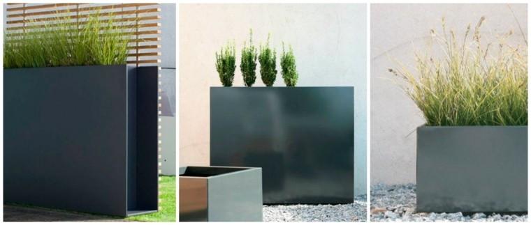 Jardineras inmensamente elegantes y funcionales.