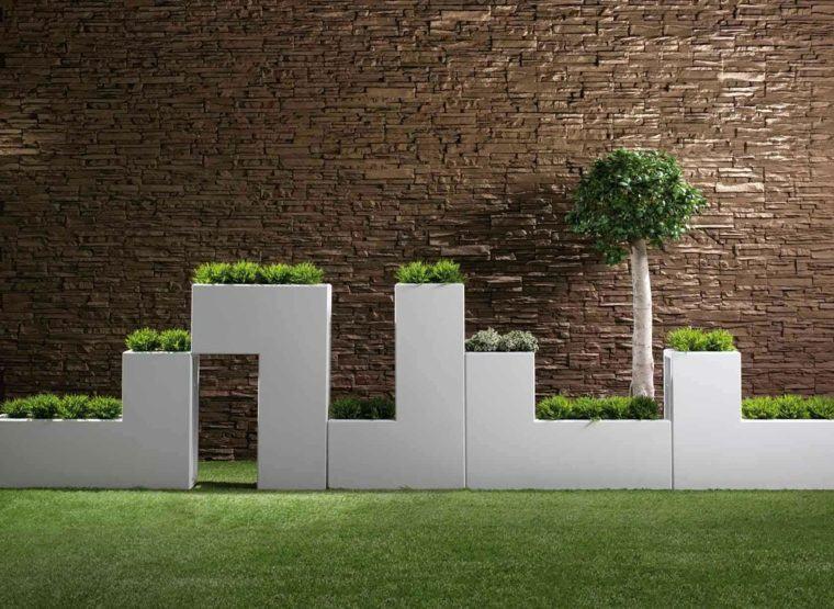 jardineras cesped baratas plantas geometrica
