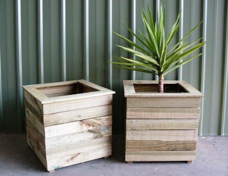 jardineras modernas de madera